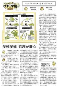 中日新聞・東京新聞連載記事「18歳成人 マネー学園」取材協力